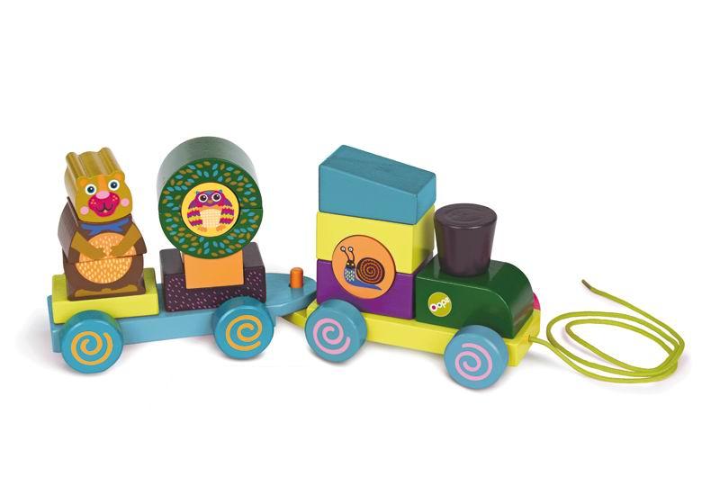 Каталка-игрушка Oops Паровозик Лес