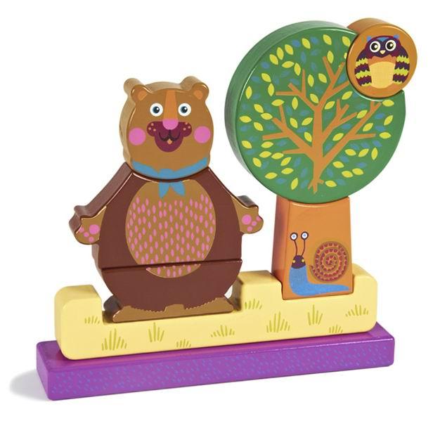 Деревянная игрушка Oops Пазл вертикальный ЛесПазл вертикальный ЛесПазл вертикальный Лес Oops – отличный деревянный пазл для Вашего ребенка.   Особенности: Собирая детальки в нужной последовательности, малыш сможет собрать фигуры в виде забавного мишки в лесу. Игрушка изготовлена из абсолютно безопасного, нетоксичного и прочного материала.  Детали изделия не ломаются и не пачкают руки.  Пазл вертикальный Лес Oops познакомит ребенка с основными цветами и разными формами. Малышу будет очень интересно собирать пазл! Собирая вместе с ребенком разноцветный пазл, Вы поможете развитию у Вашего малыша памяти, воображения, моторики пальчиков, пространственного и логического мышления.  В комплекте: 8 деталей.  Швейцарская компания Oops специализируется на разработке и производстве эксклюзивных игрушек и аксессуаров для детей. Яркий узнаваемый дизайн, разнообразие используемых высококачественных материалов, широкий спектр расцветок и размеров, безупречное качество изготовления — это слагаемые успеха торговой марки.   Ассортимент товаров Oops включает в себя мягкие и деревянные игрушки, полезные аксессуары, текстиль и даже мебель для спальни. Каждая линия детской продукции, с момента зарождения, детально прорабатывается в строгом сотрудничестве с лучшими лабораториями мира, с целью создания товаров высочайшего качества.<br>