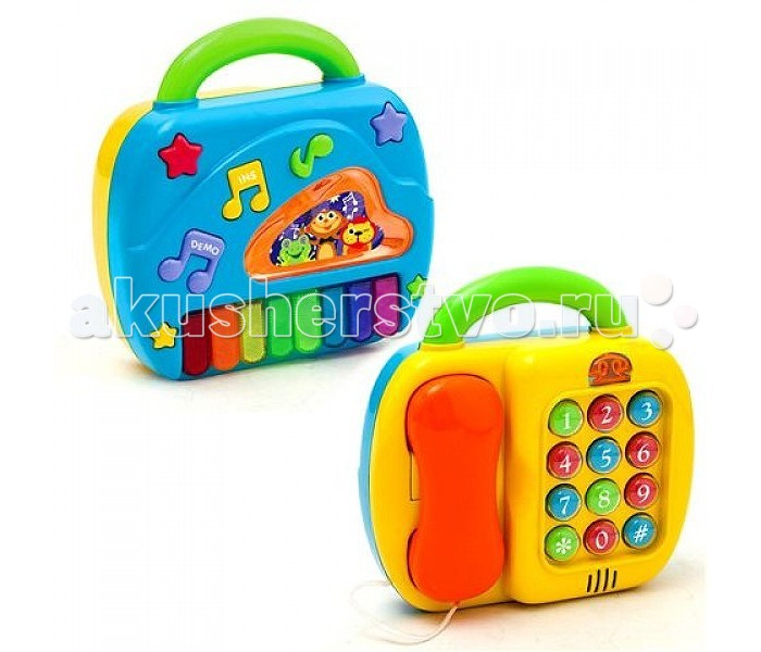 Музыкальная игрушка Playgo Телефон и пианино