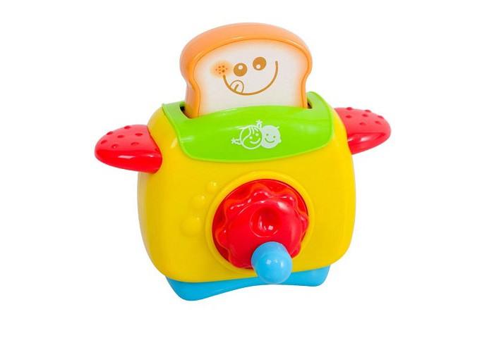 Playgo Мой первый тостерМой первый тостерМой первый тостер – это незаменимый атрибут детской кухни.  Особенности звуковые и световые эффекты позабавят малышку, добавив сюжетной игре еще больше интереса и блеска чтобы выскочил тост, нужно нажимать на кнопочку если покрутить красное колесико на лицевой панели тостера, раздается приятная негромкая мелодия сюжетно-ролевые игры с набором поспособствуют развитию социальных навыков, мелкой моторики, разговорной речи, ловкости, хозяйственности, приучат малышку к порядку, привьют любовь к чистоте с этим замечательным тостером ваш ребёнок сможет принимать полноценное участие в приготовлении роскошных семейных завтраков или устраивать своим друзьями и игрушкам настоящие званные обеды  Размеры тостера 18х18х9 см<br>