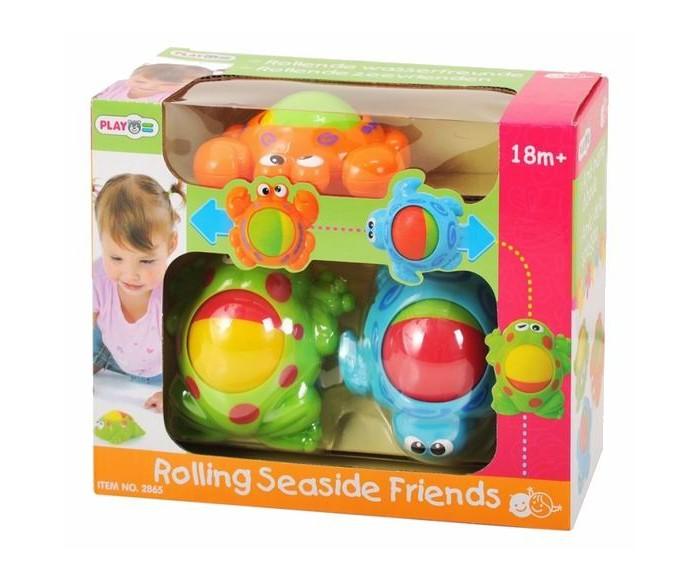 Развивающая игрушка Playgo Морские обитателиМорские обитателиМорские Обитатели PlayGo Play 2865 - набор, состоящий из трех забавных морских животных, у каждого из которых крутится животик, сделанный в виде шарика.   Игрушка помогает развитию у детей точности, координации движений, усидчивости, воображения, логического мышления, моторики пальчиков.  В комплекте - крабик, черепашка,<br>
