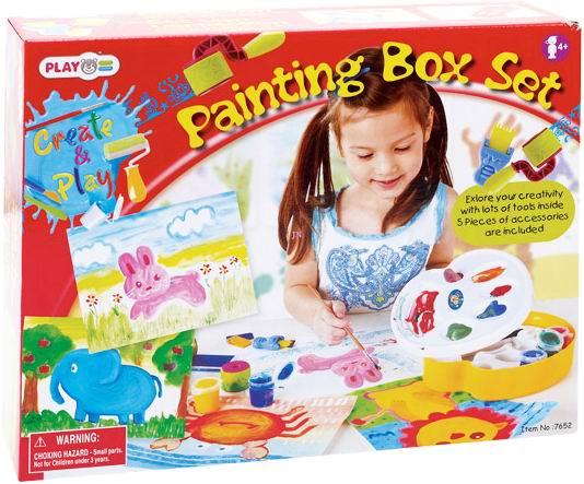 Playgo Набор для рисования с палитройНабор для рисования с палитройНабор Рисование с палитрой PlayGo 7652 станет хорошим подарком, который поможет увлекательно и интересно провести время вашему ребенку.   Игровой набор для рисования с палитрой позволит ребенку почувствовать себя настоящим художником, у которого есть палитра с красками и кисти.   С помощью такого набора можно создать множество красивых картин, которые потом можно кому-нибудь подарить.   С таким замечательным набором можно нарисовать животных, дома, природу, попробовать себя в различных видах живописи. Большинство детей любит рисовать, поэтому эта игрушка сможет надолго увлечь их в мир творчества и рисунка.   Все это будет способствовать развитию воображения ребенка, тренировать моторику рук и координацию движений, учить его рисовать и писать.<br>