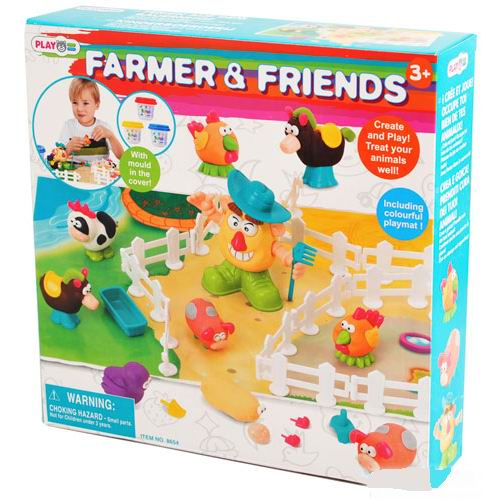 Пластилин Playgo Набор Фермер и друзья