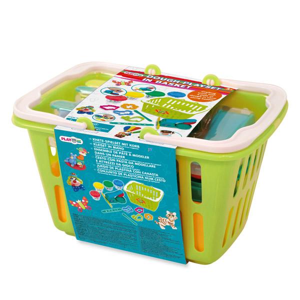 Пластилин Playgo Набор в корзине