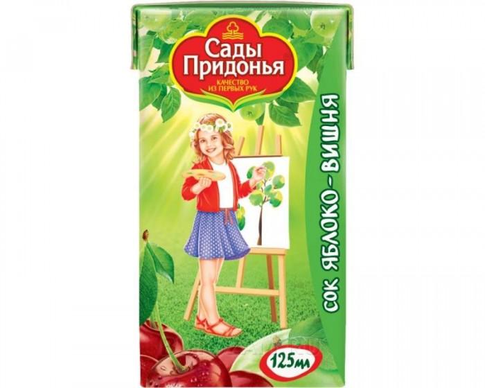 Сады Придонья Сок Яблоко с вишней с 5 мес., 125 мл
