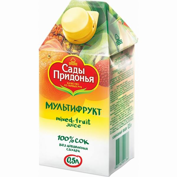 Сады Придонья Сок Мультифруктовый с 3 лет, 500 мл