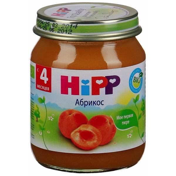 Hipp Пюре Абрикос с 4 мес., 125 г
