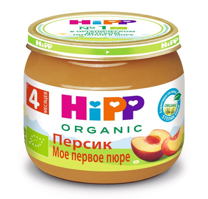 Hipp Пюре Персик с 4 мес., 80 гПюре Персик с 4 мес., 80 гПюре Hipp персиковое обогащено витамином С. Не содержит сахара.   Персики содержат витамин С, каротин, витамины группы В и К, пектин и клетчатку. Клетчатка активизирует деятельность кишечника и улучшает пищеварение. Мякоть персика очень сочная, питательная и легко усваивается организмом. Персики полезно давать ослабленным детям, при снижении аппетита. Персики обладают нежным вкусом и неповторимым ароматом, и очень нравятся детям.  Состав: пюре персиковое (органический продукт), сок яблочный восстановленный, мука рисовая грубого помола, крахмал рисовый, витамин С  Характеристики: рекомендуемый возраст: с 4 месяцев изготовлено из органических компонентов относится к гипоаллергенной программе питания HiPP не содержит генетически модифицированных организмов не содержит красителей, консервантов, искусственных ароматизаторов без сахара слабит стул<br>