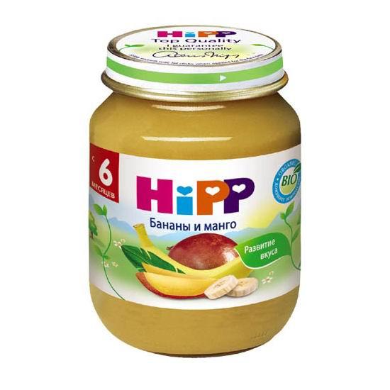 Hipp Пюре Бананы и манго с 6 мес., 125 г