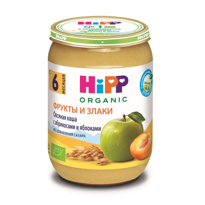 Hipp Безмолочная Овсяная каша с абрикосами и яблоками с 6 мес., 190 г