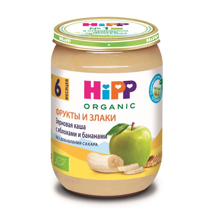 Hipp Безмолочная зерновая каша с яблоками и бананами с 8 мес., 190 г