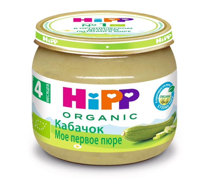 Hipp Пюре Кабачок с 4 мес., 80 г