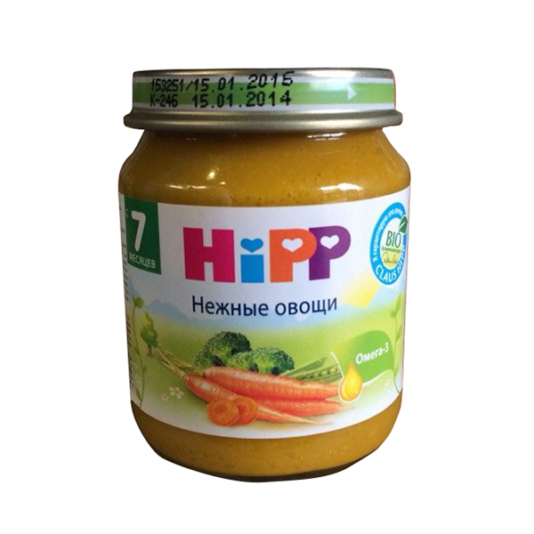 Hipp Пюре Нежные овощи с 7 мес., 125 г