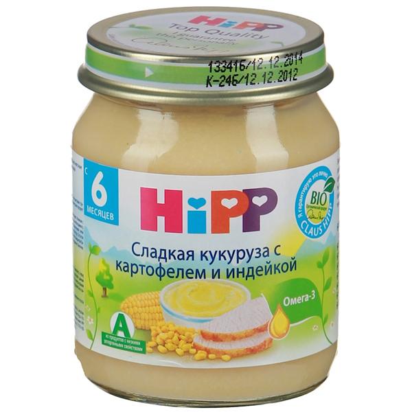 Hipp Пюре Сладкая кукуруза с картофелем и индейкой с 6 мес., 125 г