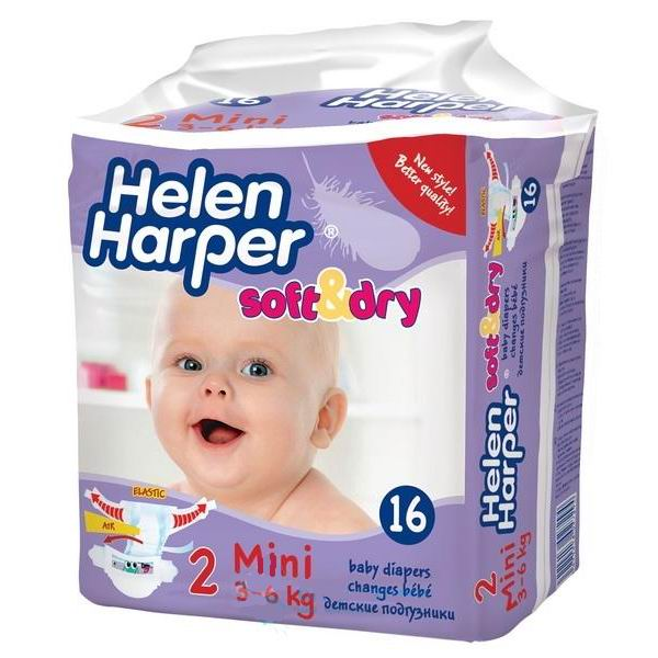 Подгузники Helen Harper Подгузники Soft & Dry mini (3-6кг) 16 шт.