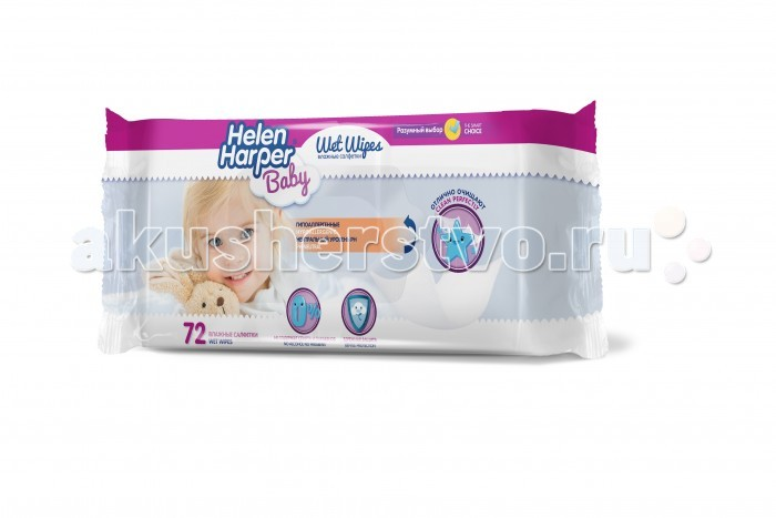 Helen Harper Детские влажные салфетки 72 шт.