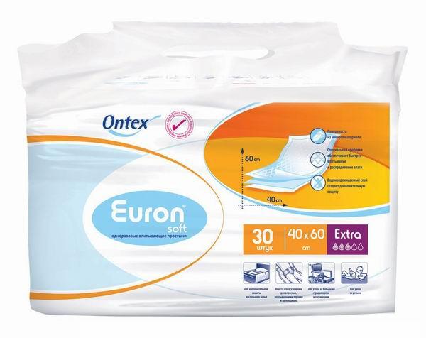 Euron Впитывающие простыни Soft Extra 40x60 30 шт.
