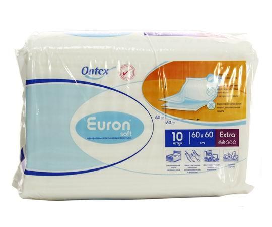Euron Впитывающие простыни Soft Extra 60x60 10 шт.