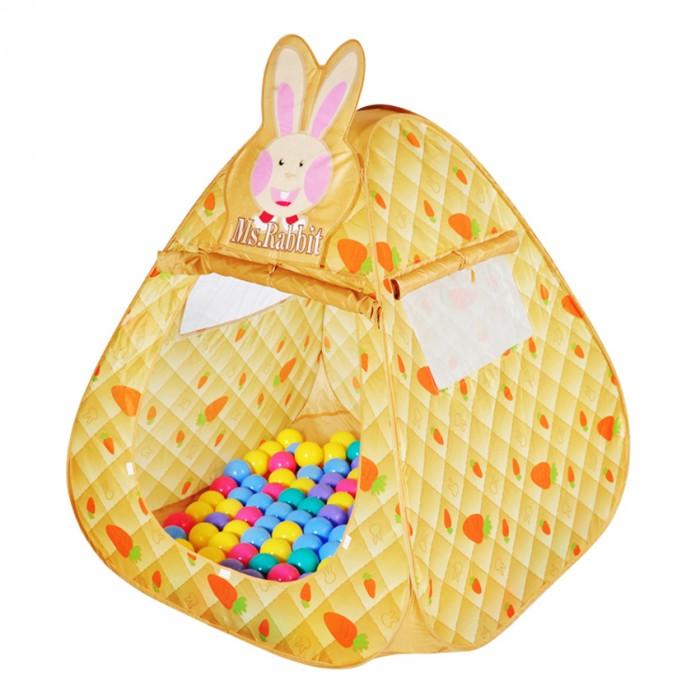BabyOne Ching-Ching Дом + 100 шаров Кролик