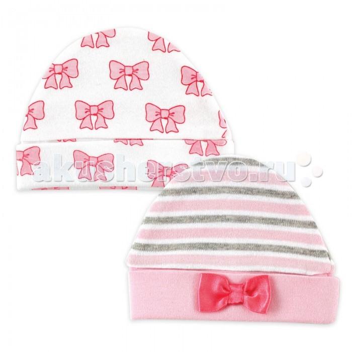 Шапочки и шарфы Hudson Baby Комплект Шапочки Бантик 2 шт. 0-6 мес.