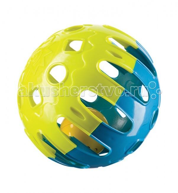 Погремушка Happy Baby Шарик Jingle BallШарик Jingle BallШарик-погремушка Jingle Ball Happy Baby  Развивает: зрение; мелкую моторику; первые навыки ползанья; восприятие формы и размера.  Характеристики: шарик-погремушка  яркие цвета безопасные материалы<br>