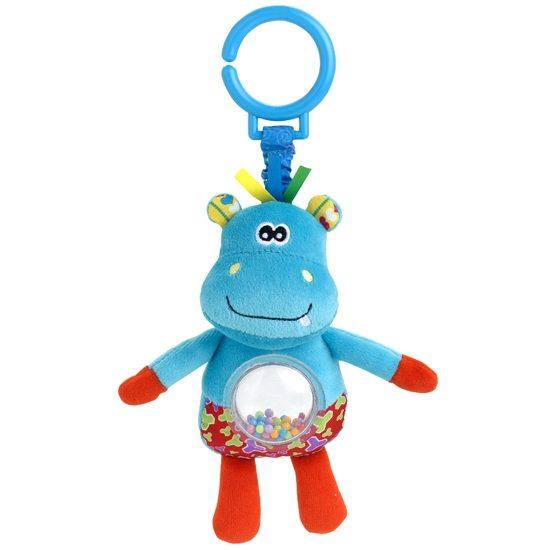 Подвесная игрушка Жирафики Бегемот с погремушкой