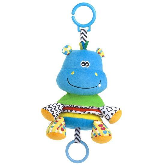 Подвесная игрушка Жирафики Бегемот музыкальный