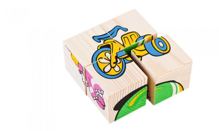 Деревянная игрушка Томик Кубики Игрушки 4 шт.