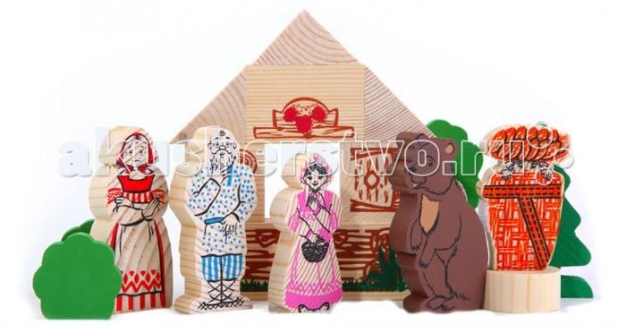 Деревянная игрушка Томик Конструктор Сказки: Маша и медведь