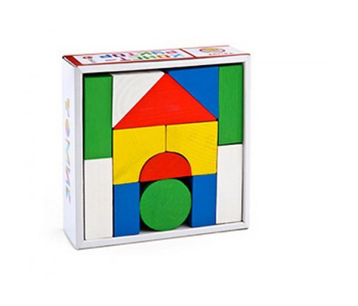 Деревянная игрушка Томик Конструктор Цветной 14 деталейКонструктор Цветной 14 деталейКонструктор Томик Цветной 14 деталей обязательно понравится малышу и станет для него самым любимым развлечением.   В наборе имеются разноцветные детали разного размера и формы.   Детали набора изготовлены из экологически чистой хвойной древесины.  Игра способствует развитию координации движений обеих рук и мелкой моторики, пространственного и образного мышления, воображения.  Деревянные конструкторы компании Томик можно комбинировать между собой. Большое количество деталей позволит детям не ограничивать свои фантазии и создавать более сложные постройки.<br>