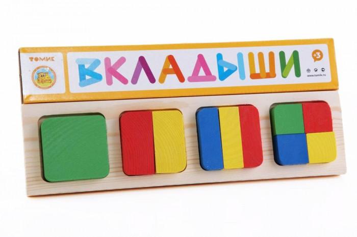 Деревянная игрушка Томик Рамка-вкладыш Геометрия квадрат