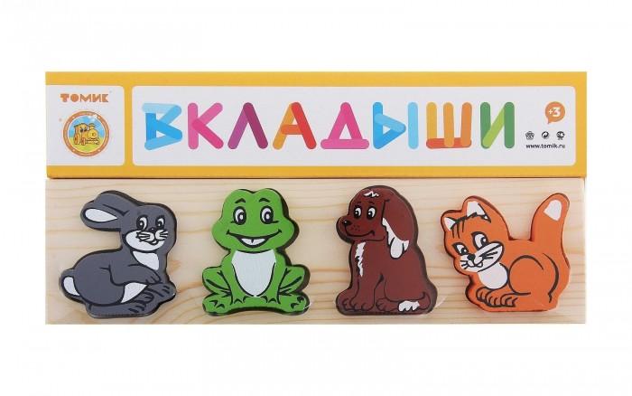 Деревянная игрушка Томик Рамка-вкладыш Животные