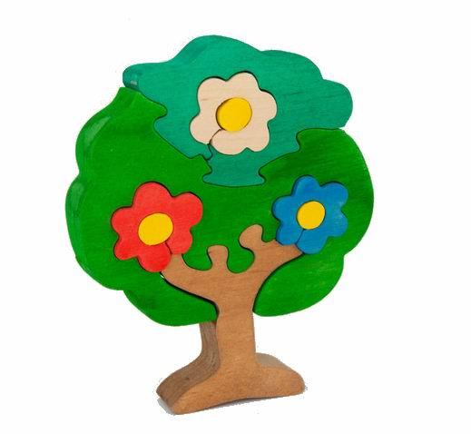 Tree Tone Деревянный пазл Дерево в цветахДеревянный пазл Дерево в цветахПорадуйте своего ребенка пазлом Tree Tone.   Крупные элементы удобны для захвата детской ручкой.   Набор выполнен из экологически чистого материала и предназначен для детей возрастом старше 2 лет.   Пазл - это отличный выбор, ведь собирание картинок не только интересное, но и полезное занятие для детей.  Пазлы развивают у малышей: Внимание и усидчивость Образное, логическое мышление Память Мелкую моторику рук Умение различать элементы по цвету, форме, размеру Восприятие связи между целым и частью  Игрушки Tree Tone безопасны для детей, т.к. для изготовления используются экологически чистые материалы: твердые породы древесины краски европейского производства, отвечающие международным стандартам качества и безопасности детских игрушек<br>