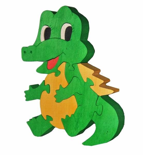 Настольная игра Крокодильчик. Деревянный пазл