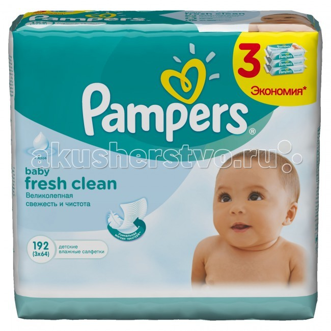 Pampers �������� Baby Fresh Clean �������� ���� 3�64 ��.
