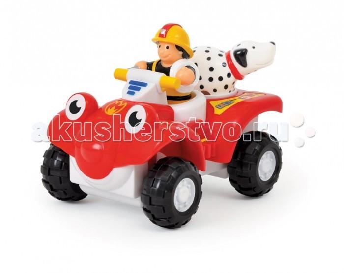 Wow Пожарный квадроцикл БертиПожарный квадроцикл БертиЯ пожарный квадроцикл Берти, но вы можете звать меня Берт! Я всегда поспеваю вовремя, если в городе возникает пожар. Вместе с моим другом далматином Расселом и водителем Куртом мы можем защитить население и вызволить из любого пожара. Мы можем ездить по бездорожью, благодаря моим удивительным амортизаторам.  Особенности игрушки: Квадроцикл Берти раскачивается во время движения из стороны в сторону Внутри квадроцикла оборудовано специальное место для пожарного Курта и собаки Рассел  Эта игрушка очень крепкая, в ней нет мелких деталей и острых углов, поэтому с ней могут играть даже самые маленькие дети.  Развивающие преимущества игрушки: Для детей от 1,5 года - Развитие моторики и стимуляция чувствительности: - визуальная, слуховая и тактильная стимуляция - развитие моторики и координация глаз/рук Для детей от 2 лет - Открытия и обучение: - стимулирующие свойства для изучения и овладения навыками Для детей от 2,5 лет - Социальное взаимодействие: - интерактивные игры с взрослыми и друзьями Для детей от 3 лет - Ролевые игры и исследование: - игры помогут узнать о социальных ролях, ценностях - помогут развить воображение ребёнка  В комплект входит: пожарный квадроцикл Берти пожарный Курт собака Рассел  Высота фигурки: 6 см. Материал: высококачественная пластмасса.<br>
