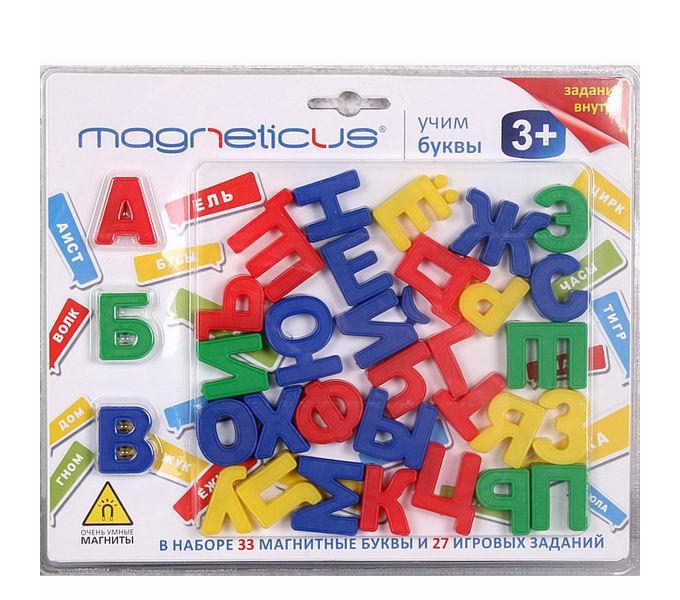 Игры для школьников Magneticus Учим буквы 33 магнитные буквы (алфавит)
