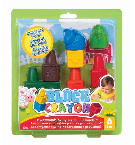 Block Crayon Набор восковых фигурных мелков Ферма (7 деталей)