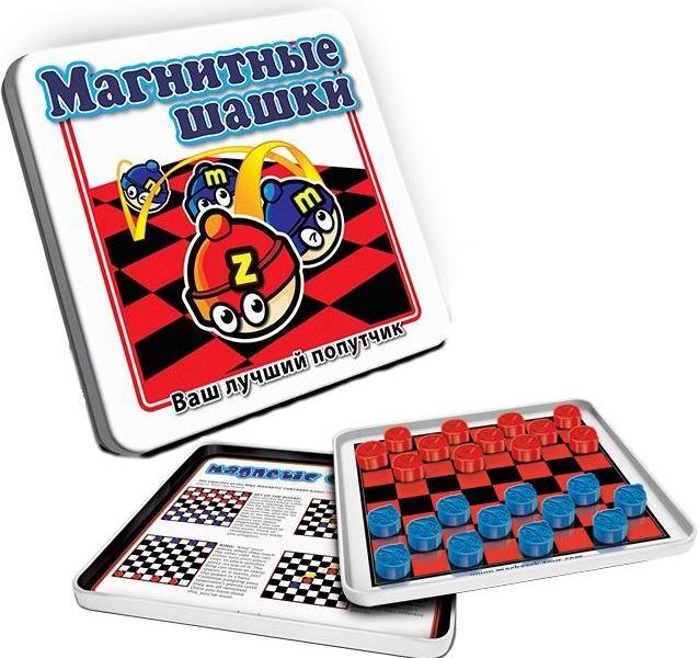 Купить Игры для школьников Магнитная игра Шашки  Игры для школьников Mack&Zack