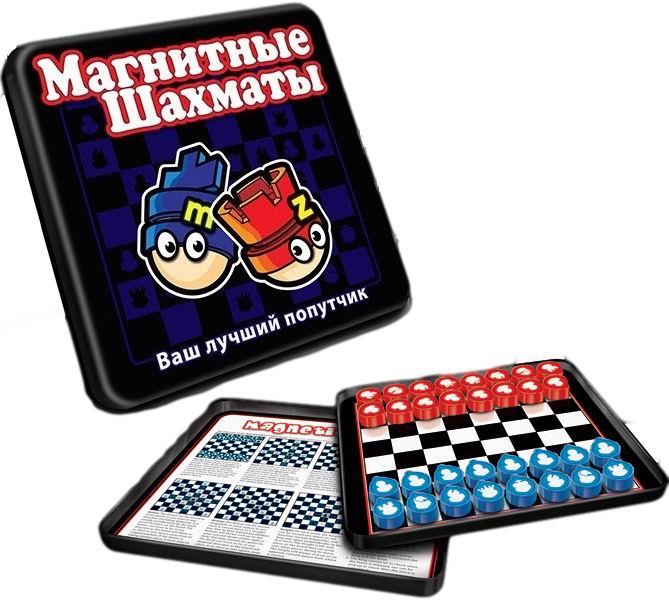 Mack&amp;Zack Магнитная игра ШахматыМагнитная игра ШахматыМагнитная игра MACK&ZACK Шахматы - классическая настольная игра, которая на долгие часы увлечет ценителей этой игры. Особенность данной игры состоит в том, что фишки снабжены магнитами, которые не позволяют им падать с металлического поля и теряться, а компактные размеры игры позволяют брать ее с собой в дорогу и играть в пути.  Шахматы – это захватывающая игра для двух игроков. Если вы новичок, который ищет веселого развлечения или серьезный стратег, который ищет себе трудную задачу – можете прекратить поиски!  Цель игры: поставить Королю вашего противника мат (поймать его в ловушку в той позиции, где он будет под ударом и не сможет убежать).  Как играть Каждый игрок начинает игру, имея на руках 16 фигурок определенного цвета. Среди них есть один Король, одна Королева, две Ладьи, 2 Слона, 2 Коня и 8 пешек. Ладья: Ладья может передвигаться на любое количество клеток по горизонтали или по вертикали по прямой линии (кроме диагонали) пока ее не блокирует другая фигура. Ладья может брать любые фигуры противника, если есть возможность двигаться по направлению к ним. Пешки: Пешка может двигаться только вперед, никогда не двигается назад или в боковые стороны. Пешки совершают ход только на одну клетку вперед. Однако, они не могут брать фигуры таким способом, они могут брать фигуры только по диагонали на одну клетку вперед. Более того, если пешка в данной партии ещё не делала ходов, она может сделать ход без взятия на два клетки вперёд. Король: Король ходит на расстояние 1 клетки в любом направлении. Короля нельзя переместить в клетку, которая находится под шахом, это рассматривается как запрещенный ход. Ферзь: Ферзь совмещает способности Ладьи и Слона. Ферзь может передвигаться на любое количество клеток по прямой линии в любом направлении. Эта маневренность делает Ферзя самой сильной фигурой в шахматах. Слон: Слон может передвигаться на любое количество клеток по диагонали в любом направлении. В начале игры у каждо