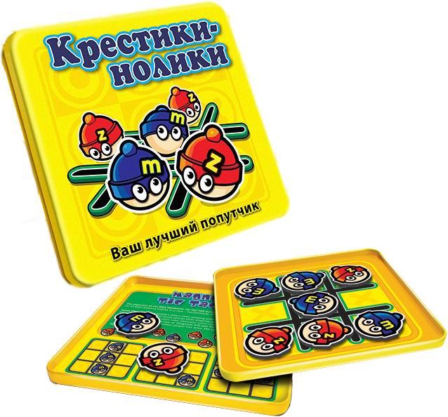 Mack&amp;Zack Магнитная игра Крестики-ноликиМагнитная игра Крестики-ноликиМагнитная игра MACK&ZACK Крестики-Нолики - это всеми любимая настольная игра, в которую могут играть два человека.  Цель игры: станьте первым игроком, который выстроит в ряд три свои игральные фишки – по горизонтали, диагонали или вертикали.  Процесс игры Игра начинается после того как игроки выбирают свои фишки (Мака или Зака). Первый игрок размещает свою фишку в свободную клетку на табличке.  Затем игроки совершают ходы по очереди, выставляя свои фишки, пока один из игроков не выстроит три из них в ряд.  Игра заканчивается в ничью, если все клетки заняты, но никто из игроков не выиграл. Мак всегда ходит первым.  Крестики-нолики (также известны под названием Noughts & Crosses) считаются первой когда-либо созданной стратегической игрой. Предупреждение: Вы можете пристраститься к этой игре!  Особенность данной игры состоит в том, что фишки снабжены магнитами, которые не позволяют им падать с металлического поля и теряться, а компактные размеры игры позволяют брать ее с собой в дорогу и играть в пути.  Состав игры: 9 магнитных фишек и инструкция.  Материал: металл, пластик, бумага. Размеры игрового поля: 13 см x 13 см. Размеры упаковки: 15 см x 15 см x 1 см.<br>