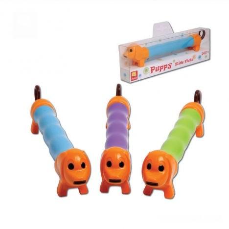 Музыкальная игрушка Halilit Флейта Собачка - HalilitФлейта СобачкаУникальный дизайн.   Для создания звуков и мелодий необходимо вдувать воздух в мундштук, расположенный во рту собачки и одновременно дергать за хвост.   Очень увлекательное занятие.   Цвета в ассортименте.  Израильская компания Halilit специализируется на поставках высококачественных игрушек и музыкальных инструментов для малышей и детей дошкольного возраста. Вниманию потребителей предлагается широкий выбор новаторских продуктов, разработанных, чтобы радовать и побуждать к творчеству детей, родителей и учителей. Компания гордится тем, что все её изделия в значительной степени способствуют развитию и обучению детей. Например, музыкальные игрушки Halilit помогут даже самым маленьким детям ощутить радость от создания музыки. Ведь в команду разработчиков музыкальных инструментов Halilit входят талантливые музыканты и, благодаря этому, детские музыкальные инструменты не только отлично выглядят, но и прекрасно звучат. Перкуссионные инструменты точно настроены с помощью электронных приборов и отлично подходят для занятий в классе или дома. Все игрушки Halilit разработаны профессионалами высокого класса и произведены в соответствии с высочайшими стандартами, которые во многих случаях превосходят международные стандарты безопасности. А самое главное — игрушки вдохновляют и развивают воображение, забавляют, обучают и просто делают детей счастливыми!<br>