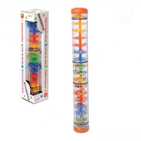 Погремушка Halilit Шейкер ДождьШейкер ДождьОригинальная развивающая погремушка.   Увлекательная комбинация цвета и звука.   Падение мелких разноцветных шариков создает продолжительный мягкий звук, похожий на дождь.   Мировой ХИТ продаж!  Высота 40 см.  Израильская компания Halilit специализируется на поставках высококачественных игрушек и музыкальных инструментов для малышей и детей дошкольного возраста. Вниманию потребителей предлагается широкий выбор новаторских продуктов, разработанных, чтобы радовать и побуждать к творчеству детей, родителей и учителей. Компания гордится тем, что все её изделия в значительной степени способствуют развитию и обучению детей. Например, музыкальные игрушки Halilit помогут даже самым маленьким детям ощутить радость от создания музыки. Ведь в команду разработчиков музыкальных инструментов Halilit входят талантливые музыканты и, благодаря этому, детские музыкальные инструменты не только отлично выглядят, но и прекрасно звучат. Перкуссионные инструменты точно настроены с помощью электронных приборов и отлично подходят для занятий в классе или дома. Все игрушки Halilit разработаны профессионалами высокого класса и произведены в соответствии с высочайшими стандартами, которые во многих случаях превосходят международные стандарты безопасности. А самое главное — игрушки вдохновляют и развивают воображение, забавляют, обучают и просто делают детей счастливыми!<br>