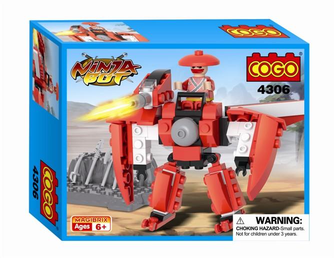Конструктор Cogo Ниндзя. Робот с пушкой 90 деталей