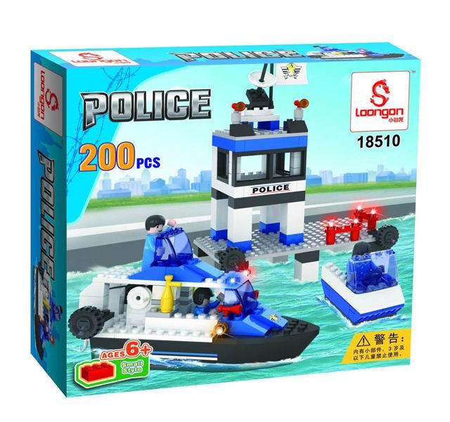 Конструкторы Loongon Полиция. Станция на воде 200 деталей