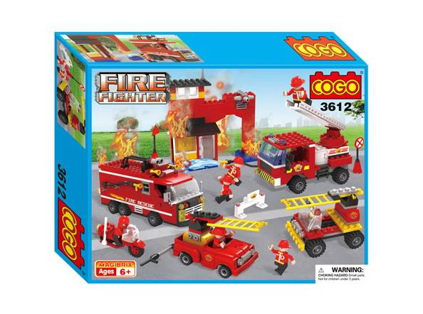 Конструкторы Cogo Пожарный. Пожарная команда 500 деталей