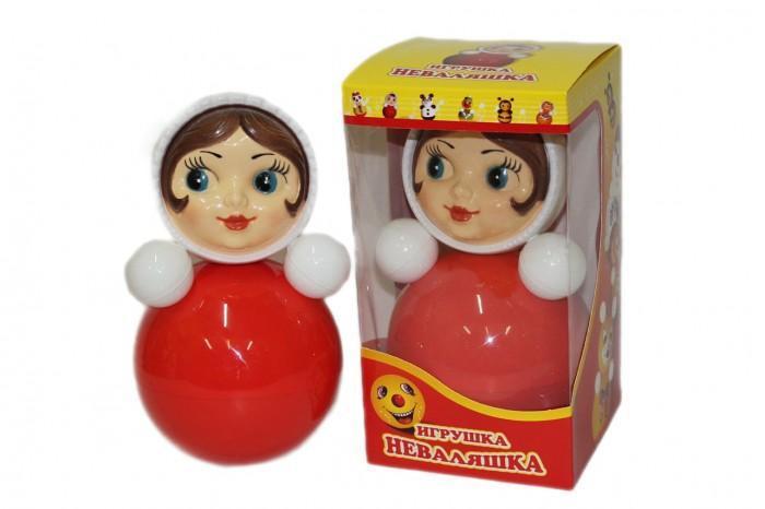 Развивающая игрушка Russia Неваляшка 26 смНеваляшка 26 смИгрушка неваляшка - одна из самых любимых игрушек малышей. Она совмещает в себе погремушку и устройство, благодаря которому неваляшка никогда не упадет.   Яркие цвета и удобная форма игрушки не оставят малыша равнодушным. Кроме того, неваляшка абсолютно безопасна даже для маленьких детей.   При раскачивании издает звук. Неваляшка - игрушка для развития у ребенка цветового, звукового и тактильного восприятия.  Она изготовлена из высококачественного российского пластика по строгим гигиеническим и санитарным нормам.   Высота неваляшки 26 см.   Неваляшка продается в цветной картонной подарочной упаковке.<br>