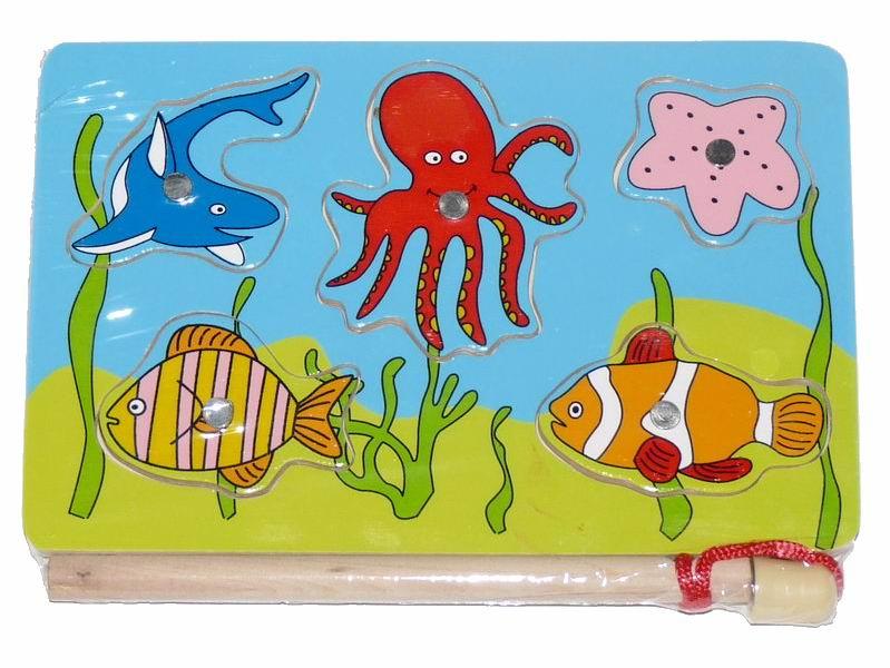 Деревянная игрушка Вудик Игра рыбалка 4819C