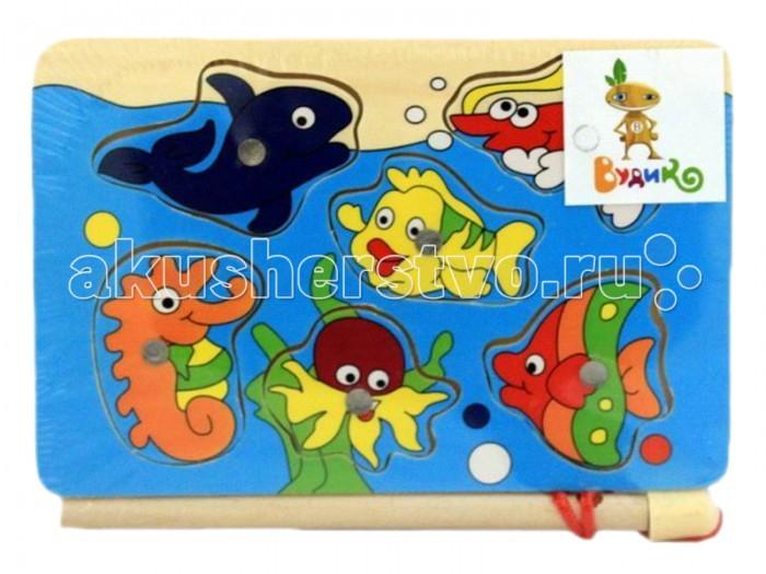 Деревянная игрушка Вудик Игра рыбалка 4652C