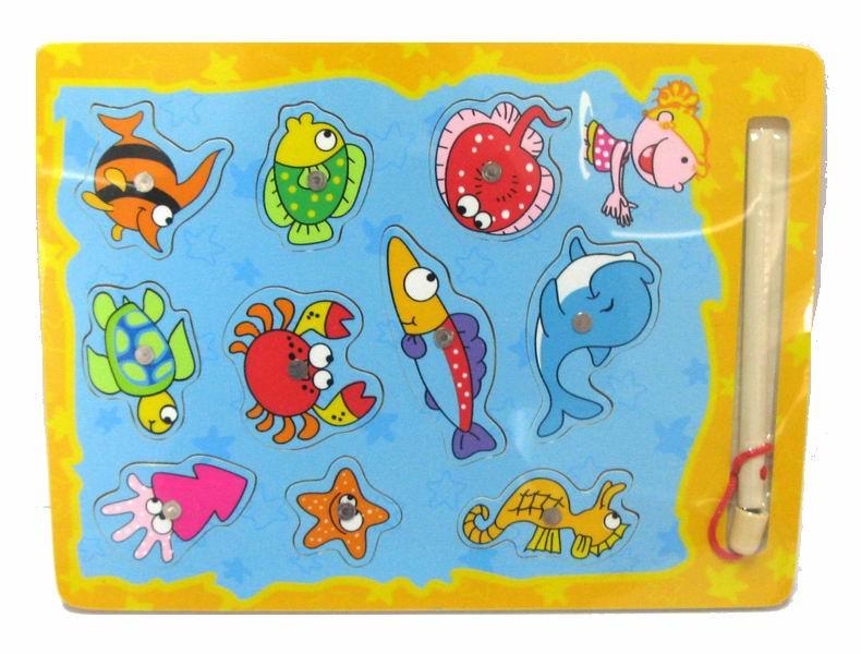 Деревянная игрушка Вудик Игра рыбалка 6494C